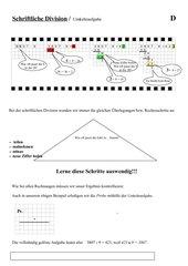 Schriftliche Division - Einführung und Umkehraufgabe als Probe