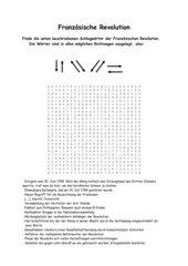 Französische Revolution - word search puzzle