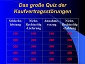 Quiz zu Kaufvertragsstörungen