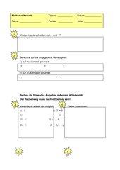 Mathematik-Klassenarbeit: Wurzeln