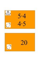 Tafelzuordnungsspiel-Malfolgen