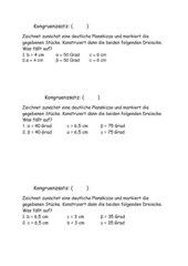 Kongruenzsätze Mathe 7 RL