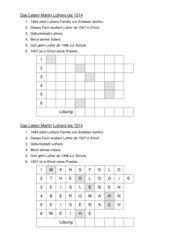 Rätsel zu Luther