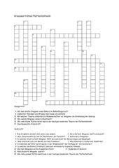 Kreuzworträtsel Plattentektonik