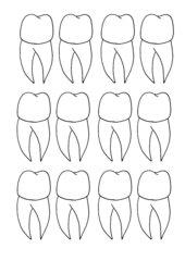 Zähltabelle für Zähne
