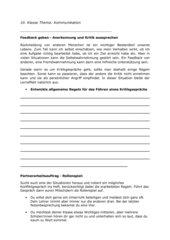 Führen eines Kritikgesprächs (Entwickeln von Feedback-Regeln)