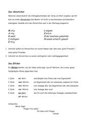 Akrostichon/Elfchen