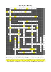 Märchen-Kreuzworträtsel