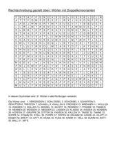 Wortsuchrätsel: 52 Wörter mit Doppelkonsonanten
