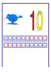 Zahlen mit Spur, Mengenplättchen und Cuisenaire-Stäbchen