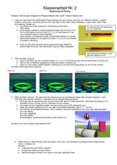 Aufgaben, Tests und Klassenarbeiten zu POVray