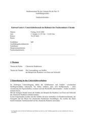 Die Umwandlung von Stoffen am Beispiel der Reaktion von Eisen & Schwefel