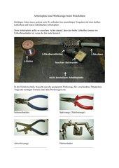 Arbeitsplatz/ Werkzeuge Löten