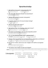 Sprachbuch-Rallye - Doppel-Klick 7