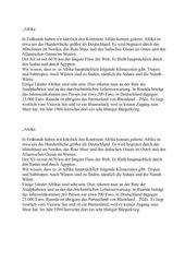 Diktat 7. Klasse Thema: Afrika