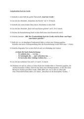 Selbstständige Heftarbeit zu Karl dem Großen (Gy, 8 Kl.)