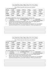 Wortschatzübung Russisch - erste Wörter (3)