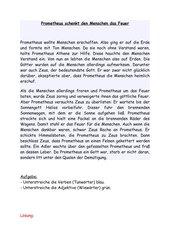 Griechische Götterwelt im Deutschunterricht