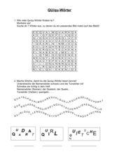 Qu/qu-Wörter Arbeitsblatt