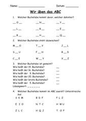 ABC-Orientierungsübungen