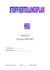Stoffverteilungsplan HSU 3. Klasse GS Bayern