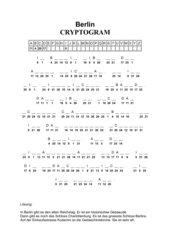 Cryptogramm Berlin