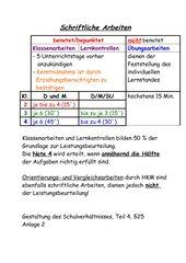 Schriftliche Arbeiten-Zusammenfassung-Hessen