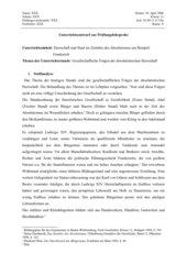 UR-Entwurf: Gesellschaftliche Folgen des Absolutismus