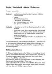 Papier - Wachsbatik - Winter - Polarmeer