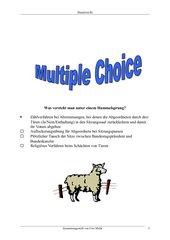 Multiple Choice Staatsrecht Lösung
