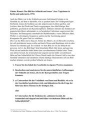 Günter Kunert: Die Schlacht am Isonzo - Klausur Kurzgeschichte Jgst 11 Gymnasium (Grundkurs)