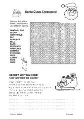 Santa Claus Crossword Puzzle