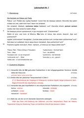 Lateinarbeit 3. Fremdsprache, Beginn 2. Lernjahr