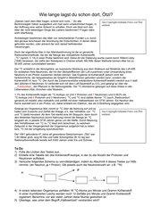 Radiocarbon - Altersbestimmung - C14