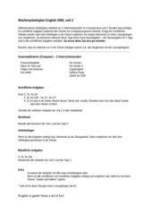 Wochenplanarbeit English G 2000, A1, Unit 2