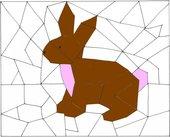 Ausmal-Puzzle:  Äpfel, Schnecke, Kaninchen