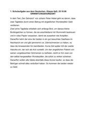 4teachers Textzusammenfassung Hebel Der Zahnarzt