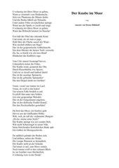 Gedichte: Der Knabe im Moor