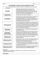 Layout von journalistischen Texten: Fachbegriffe