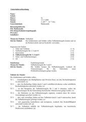 Unterrichtsentwurf Erarbeitung der Teilbarkeitsregeln 3, 9