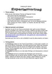Vorbereitung auf einen Expertenvortrag, kurzes Referat, Klasse 3/4, Grundschule
