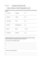 Deutsch Grammatik - Zeitformen