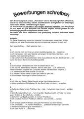 4teachers lehrproben unterrichtsentwrfe und unterrichtsmaterial fr lehrer und referendare - Formulierungshilfen Bewerbung