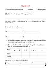 Notation Grundlagen Arbeitsblatt