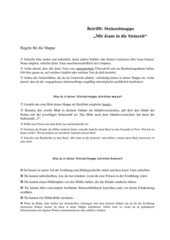 Steinzeitmappe/Lesetagebuch zu