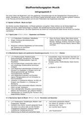 Stoffverteilungsplan Musik 5 Hauptschule Bayern
