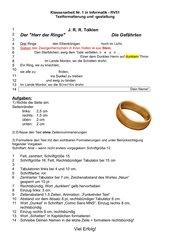 Aufgabe Textverarbeitung Format Tabulatoren