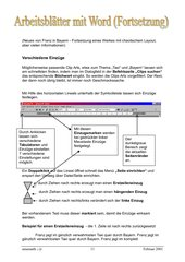 Word Arbeitsblätter Teil2
