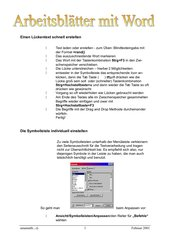 Word Arbeitsblätter Teil1