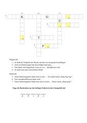 Kreuzworträtsel zum Elektromagnetismus